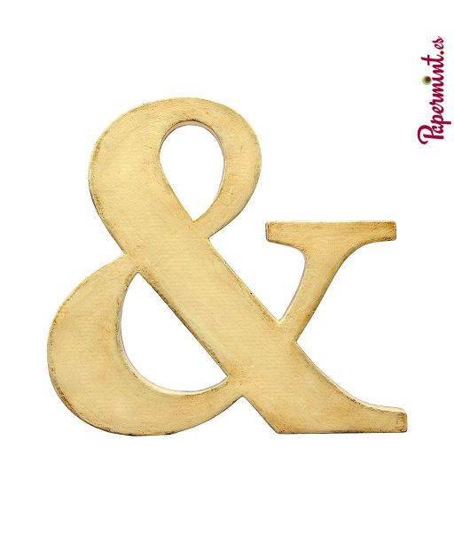 Letra decorativa Ampersand. Papermint
