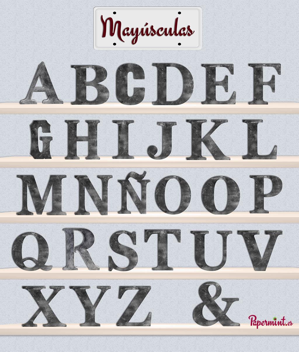detalle de letra decorativa oxido inicio - Letras Decorativas