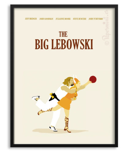 Póster The Big Lebowski cartel personalizado