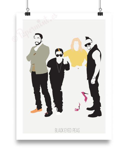 Póster minimalista de Black Eyed Peas