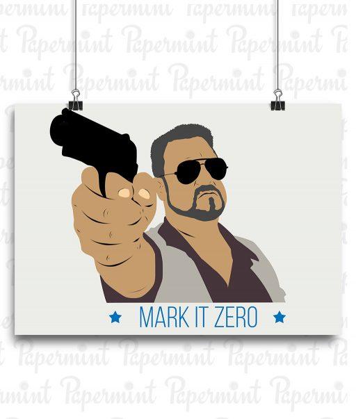 Poster mark it zero