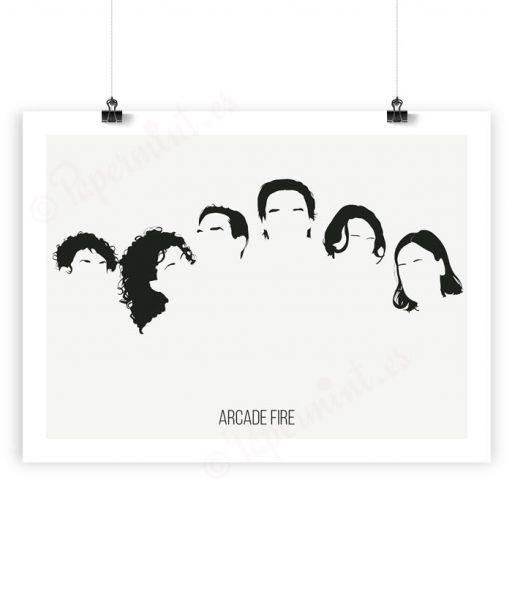 Lámina ilustración de Arcade Fire