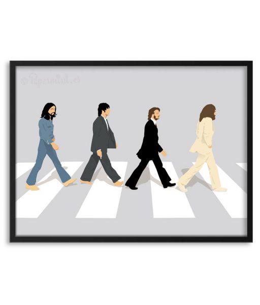 Póster minimalista de los Beatles