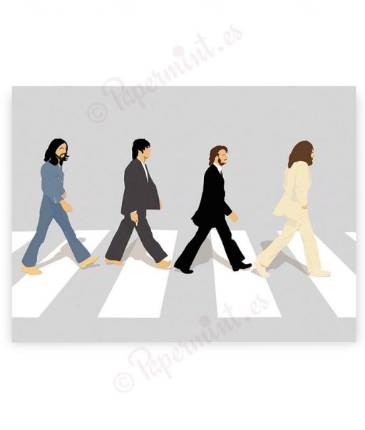 póster Abbey Road minimalista