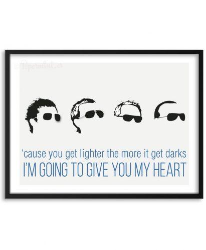 Póster de Coldplay con frase