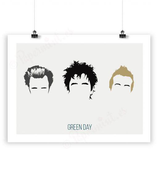Lámina con ilustración de Green Day