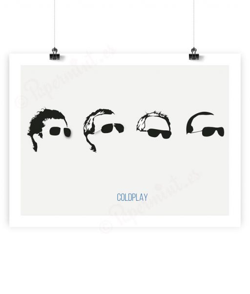 Lámina minimalista de Coldplay