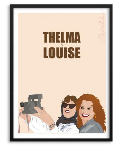 Póster ilustración de Thelma y Louise por Papermint