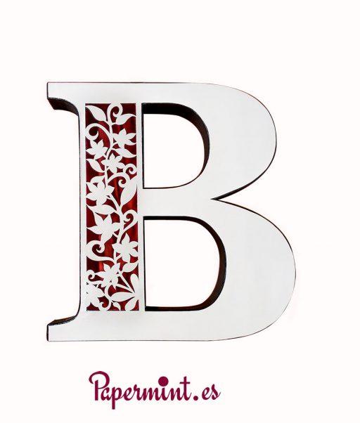 Letra B blanca bonita