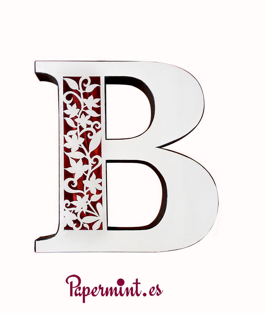Letra decorativa floral papermint - Literas bonitas ...