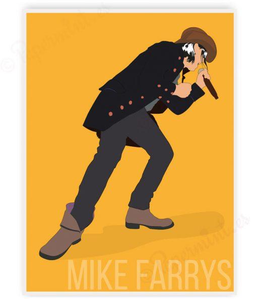 Póster de concierto de Mike Farris