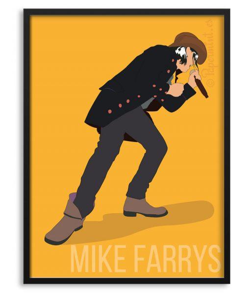 Póster de Mike Farrys por Papermint