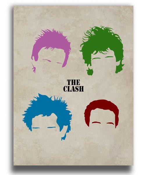 the clash poster siluetas color