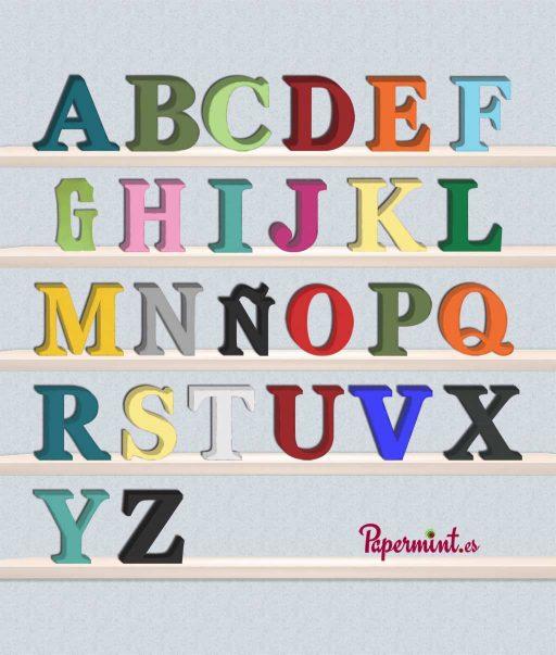Letras decorativas mayusculas ejemplo-Papermint