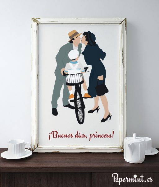 decoración con poster papermint