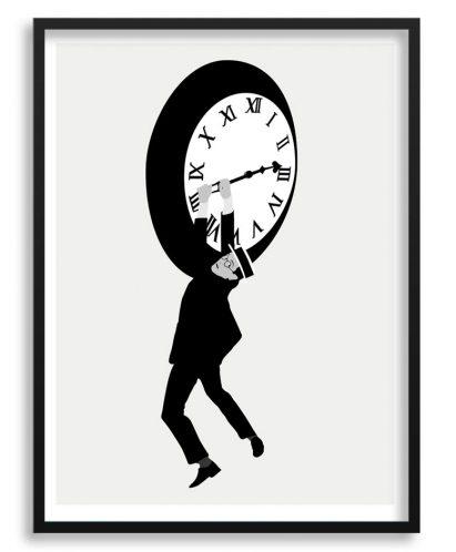 Póster de Harold Lloyd minimalista