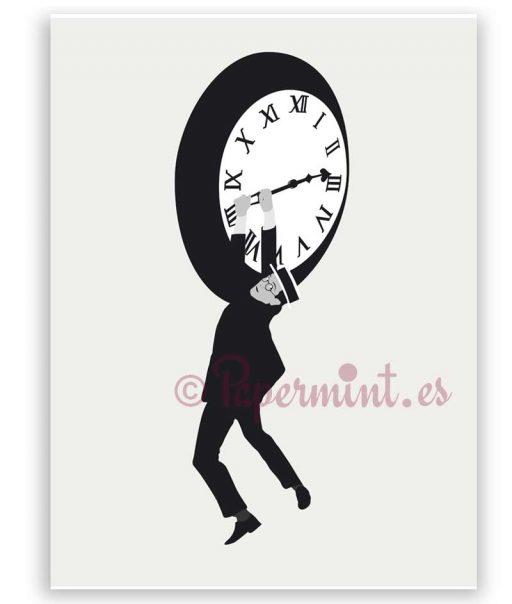 Poster Harold Lloyd reloj