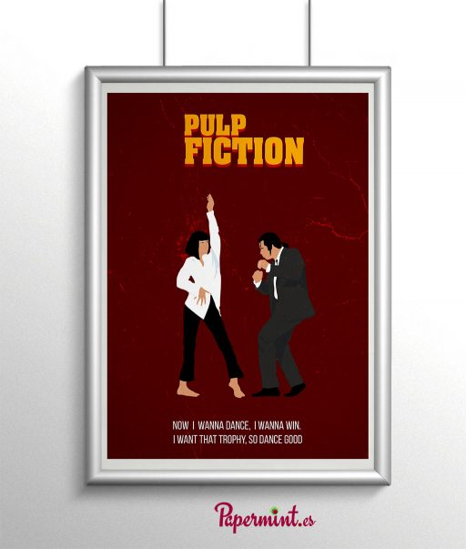 Poster de Pulp Fiction con marco