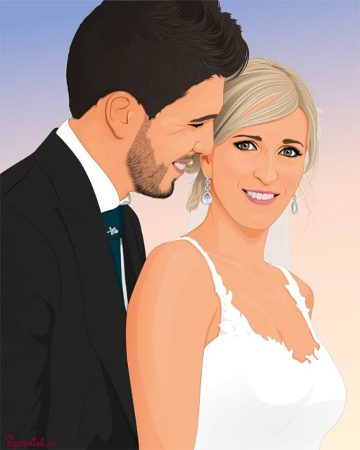 Retrato digital boda pop art