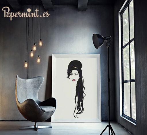 Amy Winehouse cuadro en salón