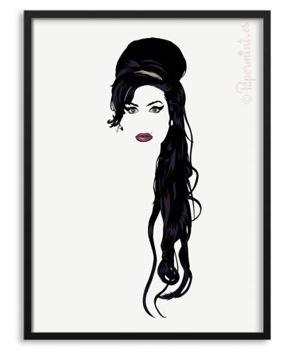 Póster retrato de Amy Winehouse