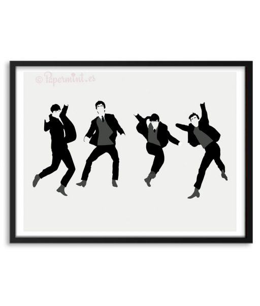 Póster de The Beatles saltando