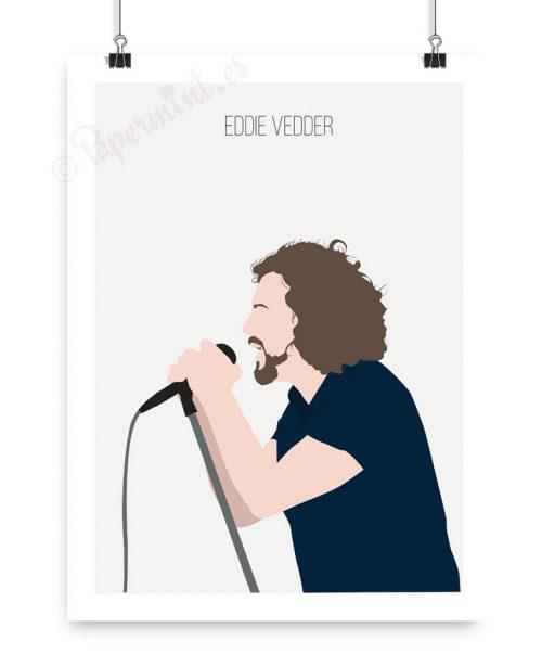 Póster minimalista Eddie Vedder concierto