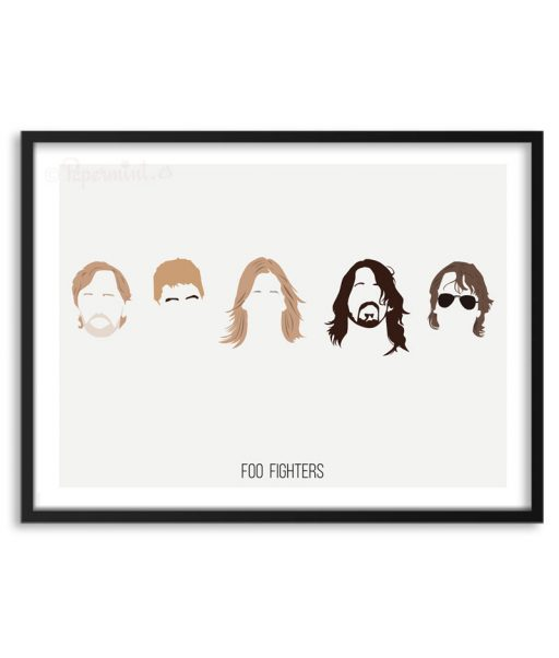 Póster de Foo Fighters por Papermint