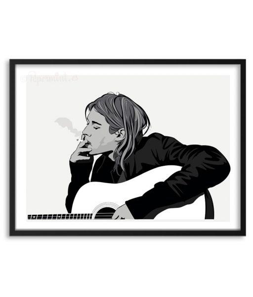 Póster de Kurt Cobain por Papermint