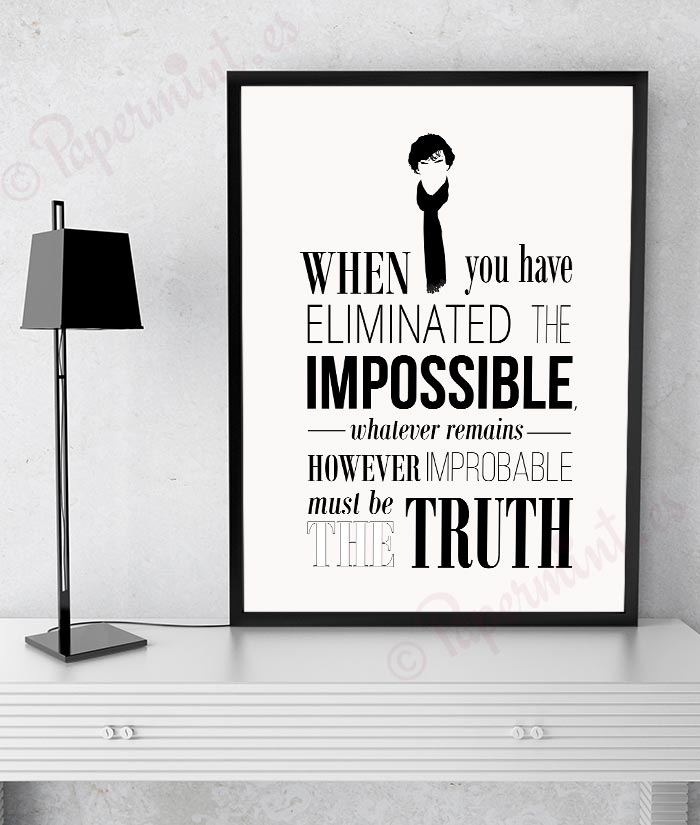 Lámina tipografía de Sherlock Holmes - Papermint