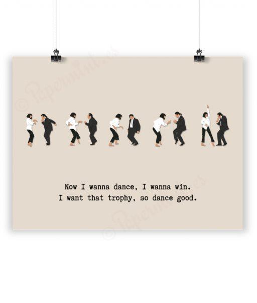 Lámina ilustración del baile de Pulp Fiction