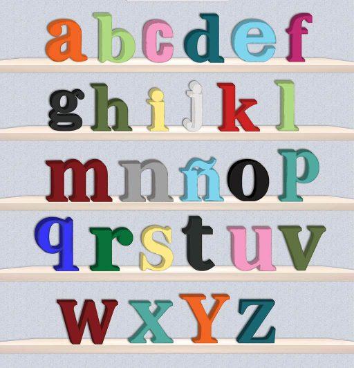 Plantilla de letras decorativas minúsculas