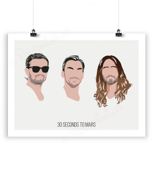 Lámina ilustración de 30 seconds to Mars