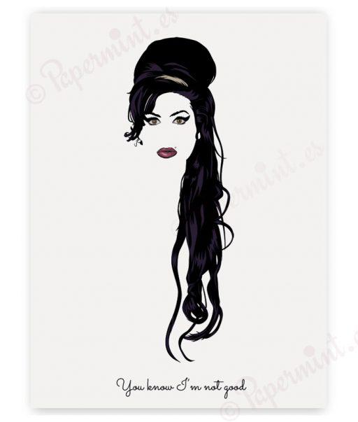 poster de Amy Winehouse con frase