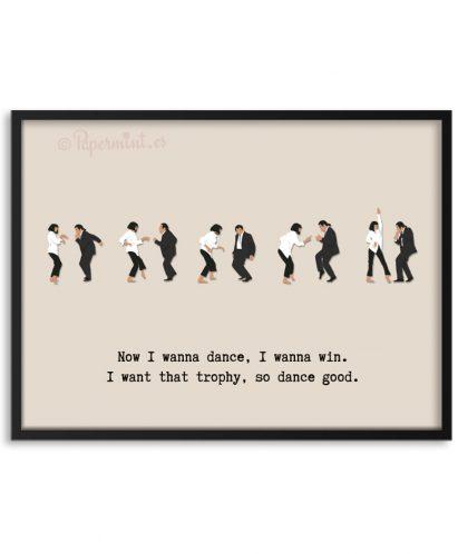 Póster baile de Pulp Fiction