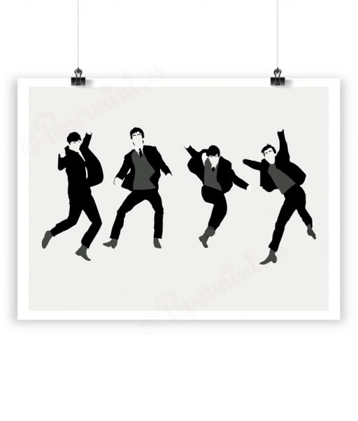 Lámina personalizada de los Beatles por Papermint
