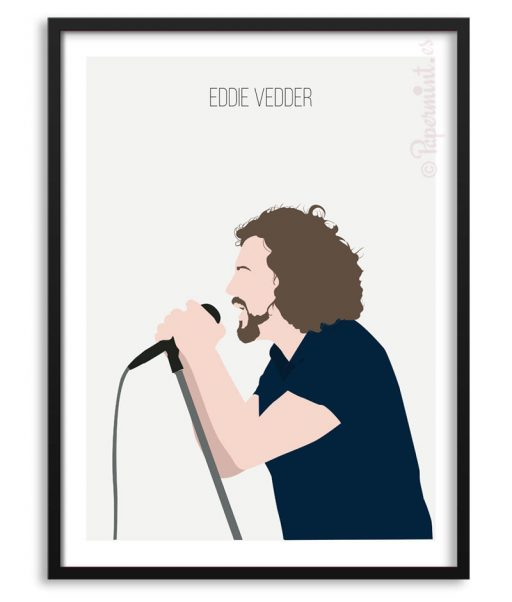Póster de Eddie Vedder ilustración Papermint