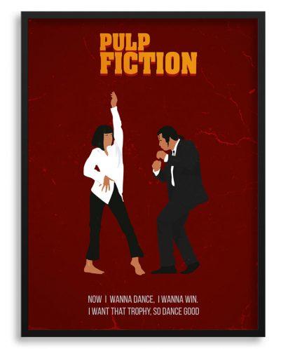 Póster minimalista de Pulp Fiction