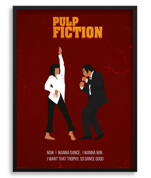 Póster minimalista de Pulp Fiction
