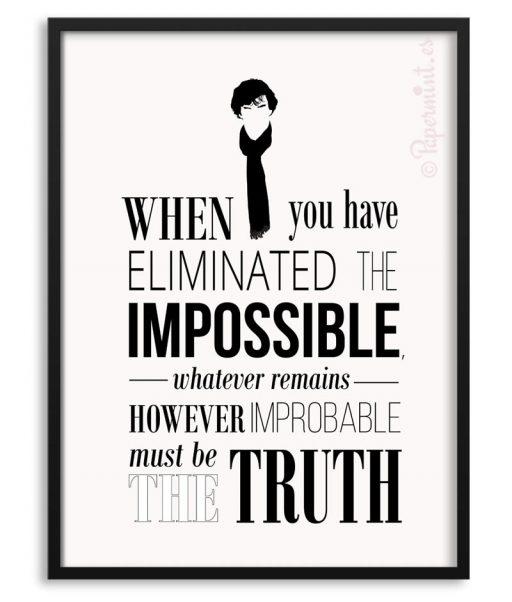 Póster de Sherlock con frase