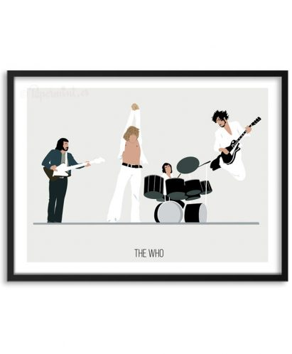 Póster de la banda The Who por Papermint
