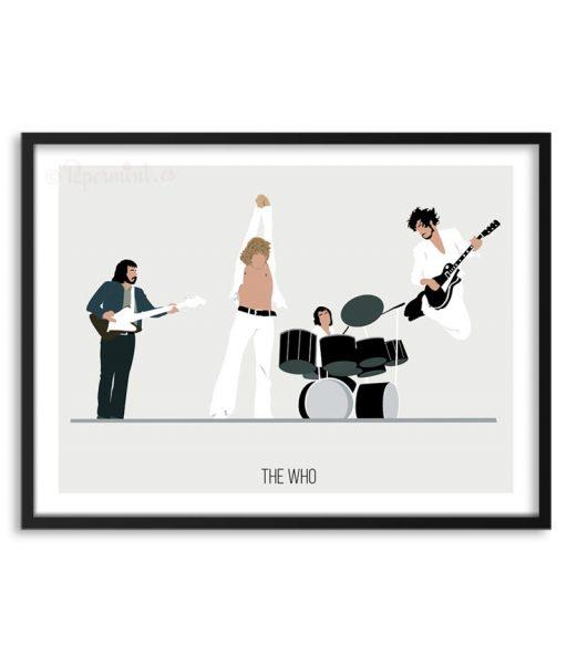 Póster de la banda The Who por Papermint