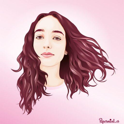Retrato digital cara chica