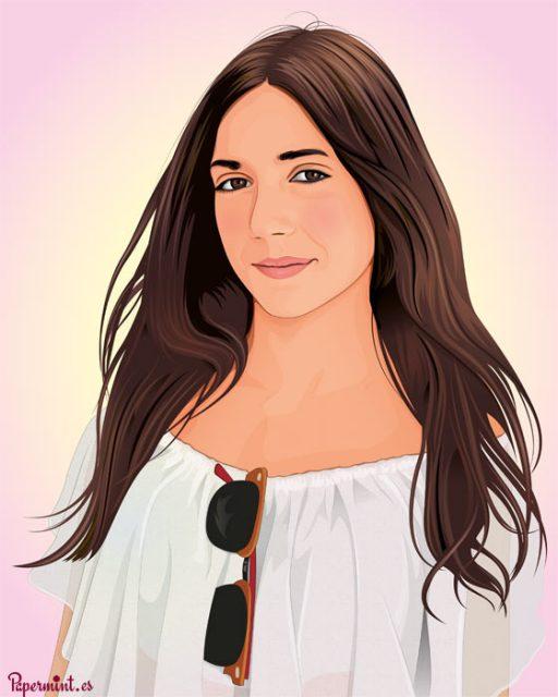 Retrato de chica personalizado para regalo