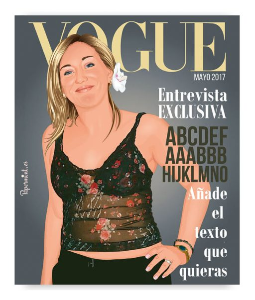 retrato personalizado simulando portada de revista