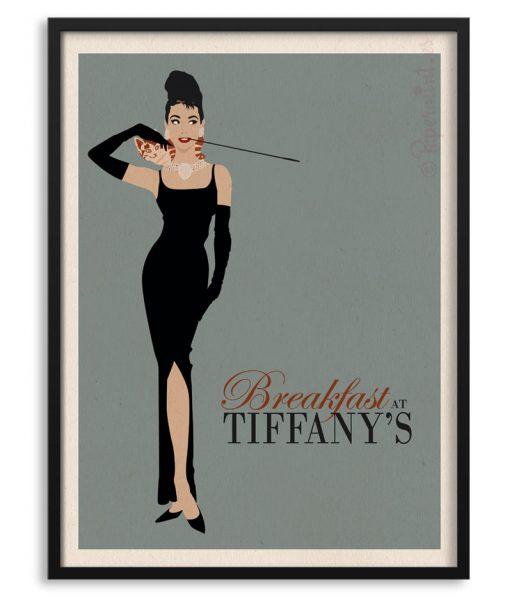 """Póster de Audrey Hepburn en """"Breakfast at Tiffany`s"""""""