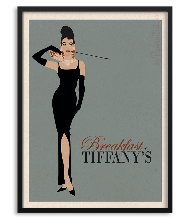 8502327fd210 Póster de Audrey Hepburn en
