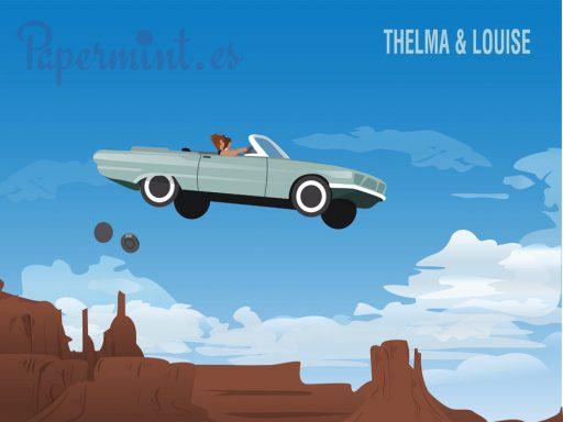 Póster personalizado de la escena final Thelma y Louise