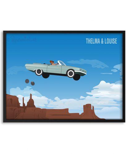 Póster escena final de Thelma & Louise