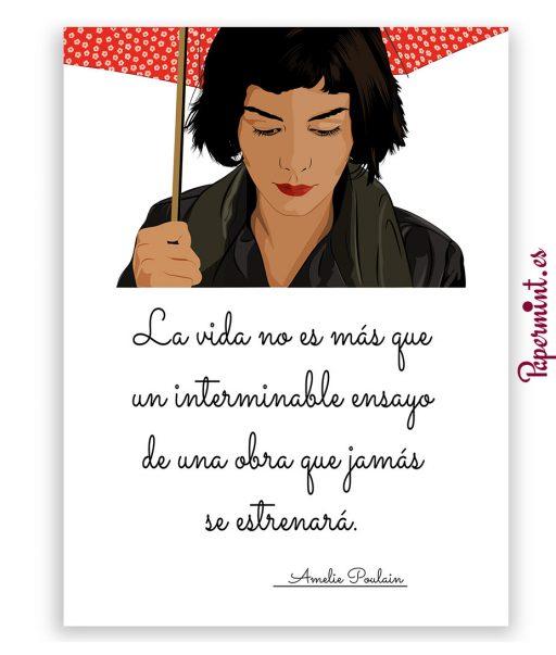 lámina Amélie paraguas